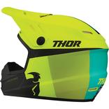 Dětská přilba Thor Sector Racer - Žlutá fluo/Černá/Tyrkysová
