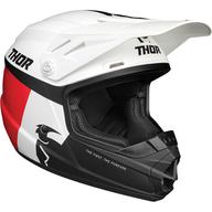 Dětská přilba Thor Sector Racer - Bílá/Červená/Černá/Modrá