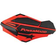 Chrániče rukou PowerMadd Sentinel (Černá/Červená)