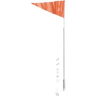 Teleskopická vlajka na pružné tyči. Oranžová.