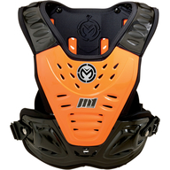 Motokrosový chránič vrchní části těla. Oranžovo černá barva. Výroba Moose Racing USA.