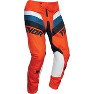 Dětské kalhoty Thor Pulse Racer - Oranžová/Bílá/Modrá/Černá