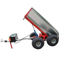 Hydraulicky sklápěný vozík za čtyřkolku s velkou korbou