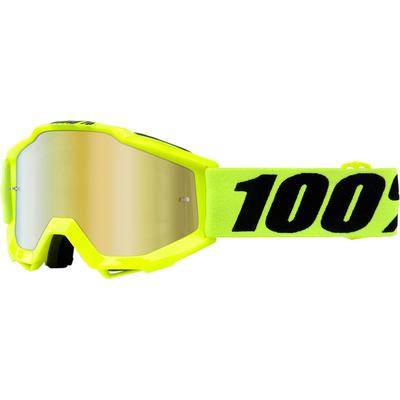 Dětské motokrosové brýle 100% Accuri - Žlutá fluo/Černá - zrcadlové