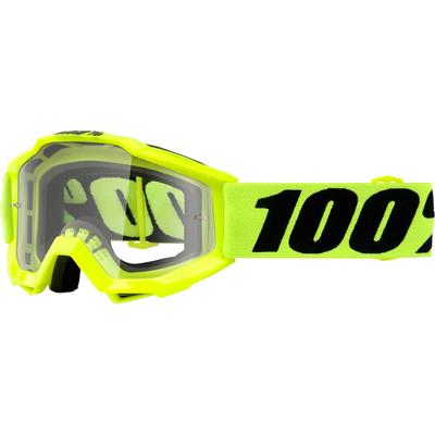 Dětské motokrosové brýle 100% Accuri - Žlutá fluo/Černá - čiré