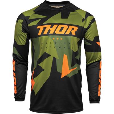 Dětský dres Thor Sector Warship - Zelená/Černá/Oranžová